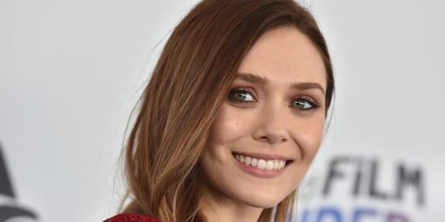 La actriz Elizabeth Olsen, en los Spirit Awards el 3 de marzo de 2018.