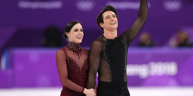Tessa Virtue and Scott Moir.