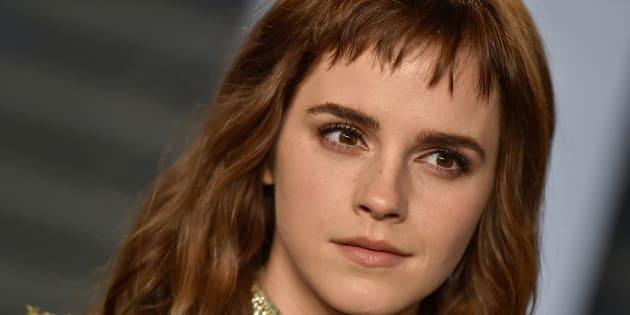 Emma Watson lors de la soirée Vanity Fair qui fait suite aux Oscars, le dimanche 4 mars 2018.