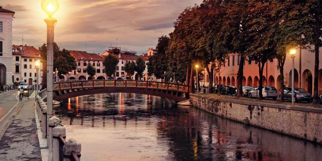Treviso at dusk, Italy