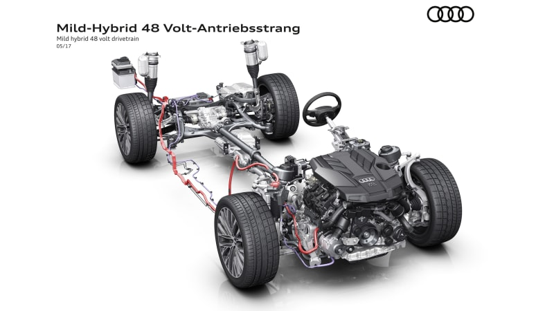 The next Audi A8 will have a super quick and smooth 48-volt start