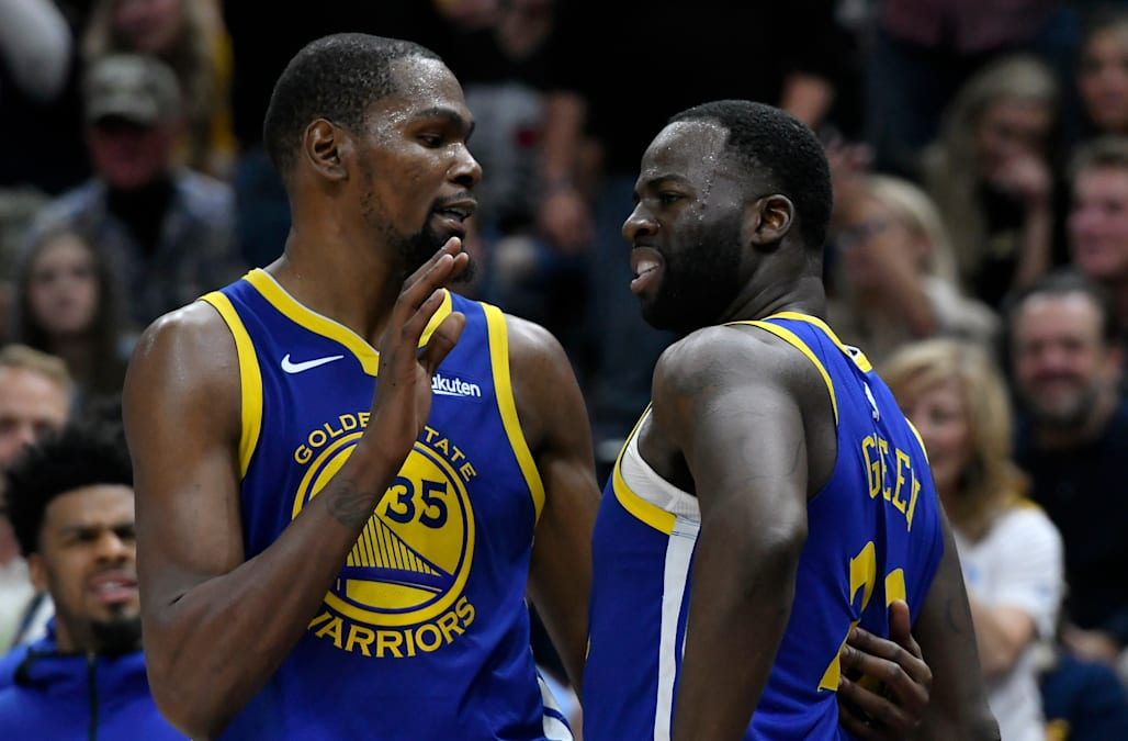 9ff958de578 Warriors  Kevin Durant and Draymond Green exchange heated words for nearly  3 straight minutes in OT loss to Clippers
