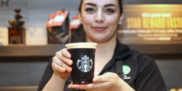 "Starbucks says it will work with ""deliberate speed."""