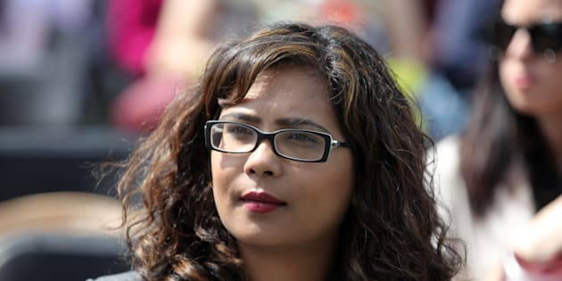 Iqra Khalid, Liberal Member of Parliament, attends a celebration in Mississauga, Ont.
