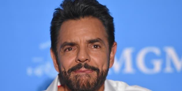 Eugenio Derbez plantea durante una rueda de prensa para promover la película Hombre al Agua en el Regis Hotel el 7 de mayo de 2018 en Ciudad de México