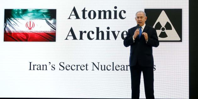 Le premier ministre israélien Benjamin Netanyahu lors d'une conférence de presse au ministère de la Défense d'Israël, le 30 avril.