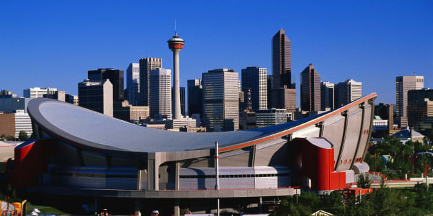 Mayor Naheed Nenshi has said his vision for a revitalized Victoria Park just north of the 34-year-old Scotiabank Saddledome includes an arena.