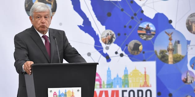 Andrés Manuel Lopez Obrador, candidato presidencial, durante su participación en la edición XVI Foro Nacional de Turismo, el pasado 7 de mayo.