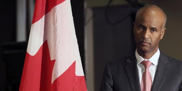 Photo d'archives du ministre fédéral de l'Immigration, Ahmed Hussen.