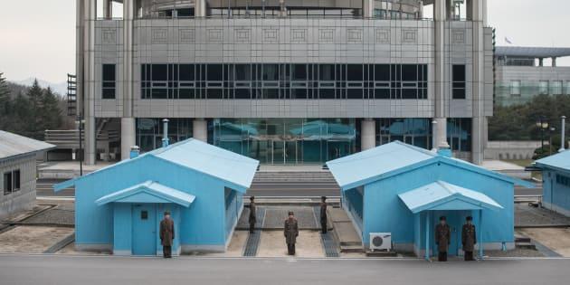 """Les discussions entre les deux Corée se dérouleront dans cette """"maison de la paix"""" à leur frontière ce 9 janvier 2018."""