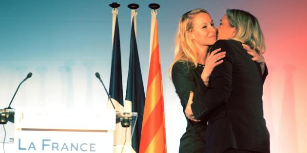 Marine Le Pen et Marion Maréchal Le Pen, pendant la campagne des régionales en 2015.