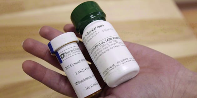 Bottles of the abortion-inducing drug Mifegymiso, a two-drug combination using mifepristone and misoprostol. Health Canada announced Tuesday that an ultrasound is no longer necessary to prescribe the drug.