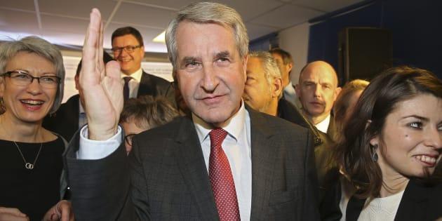 Philippe Richert, ici le soir du second tour des élections régionales, le 13 décembre 2015 à Strasbourg.