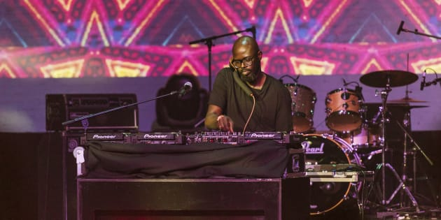 South African producer and DJ Black Coffee performs at the Apollo Theater & World Music Institute's sixth annual 'Africa Now!', New York, March 3 2018.