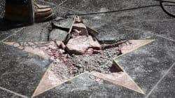 Destrozan de nuevo la estrella de Donald Trump en
