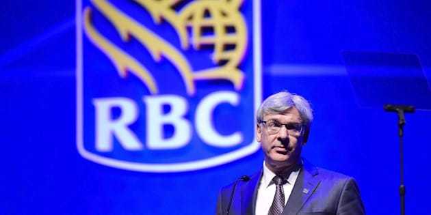 "Royal Bank president David McKay speaks at the Royal Bank of Canada annual meeting in Toronto on April 6, 2017. McKay is urging the federal government to stem the flow of investment capital from this country to the United States — because, he warns, it's already leaving in ""real time."""