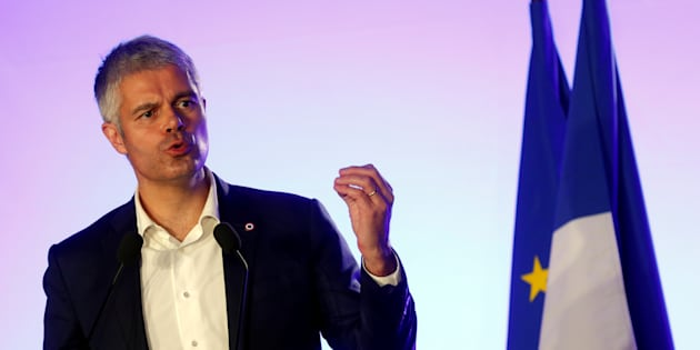 Laurent Wauquiez en meeting à Paris au mois de novembre.