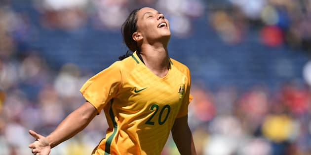 This was Sam Kerr celebrating after yet another goal in the Tournament of Nations in August. The whole team feels that way about the sellout.