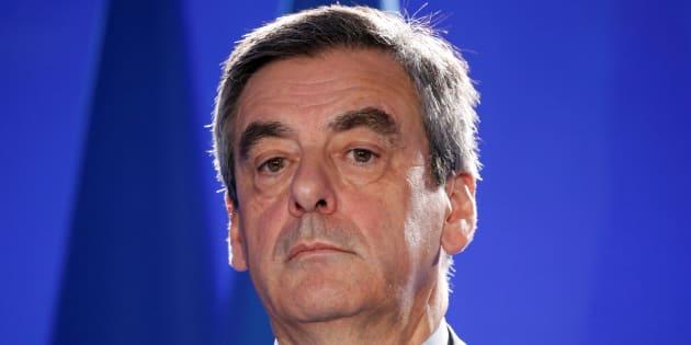 Francois Fillon, en réunion à Paris ce jeudi 6 avril.
