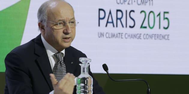 Laurent Fabius, président de la COP21 en 2015.