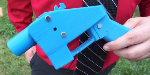 Una pistola hecha con impresoras 3D, en una imagen de archivo.