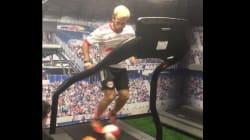 Vous n'avez jamais vu un footballeur s'entraîner de cette