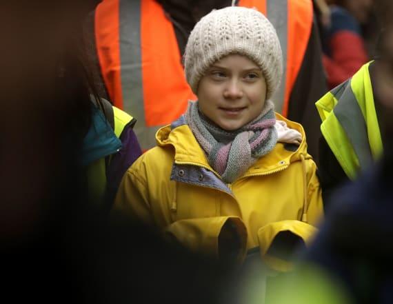 Thunberg slams leaders for 'acting like children'