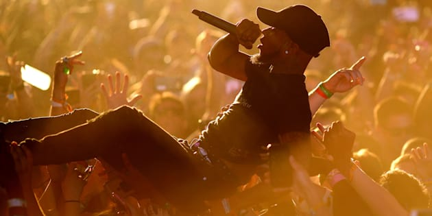 Tory Lanez performs on the Sahara Stage during day 2 of the Coachella Valley Music And Arts Festival at the Empire Polo Club on April 14, 2017 in Indio, California on April 15, 2017 in Indio, California.