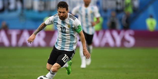 Lionel Messi anotó el gol 100 del Mundial de Rusia 2018 en el partido contra Nigeria.