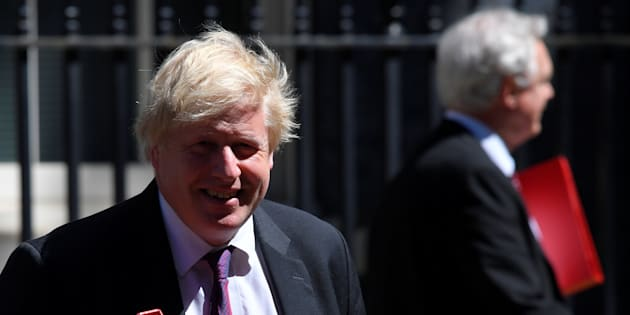 Boris Johnson et David Davis quittant le 10 Downing Street en juin. REUTERS/Toby Melville