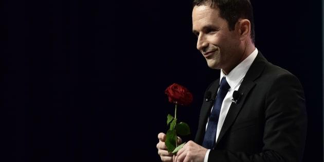 Benoît Hamon, candidat du parti socialiste pour la présidentielle, le  5 avril 2017.
