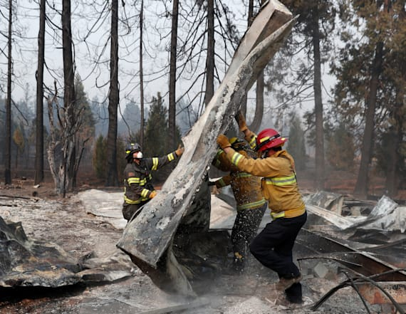 Heavy rains to hinder search in California wildfire