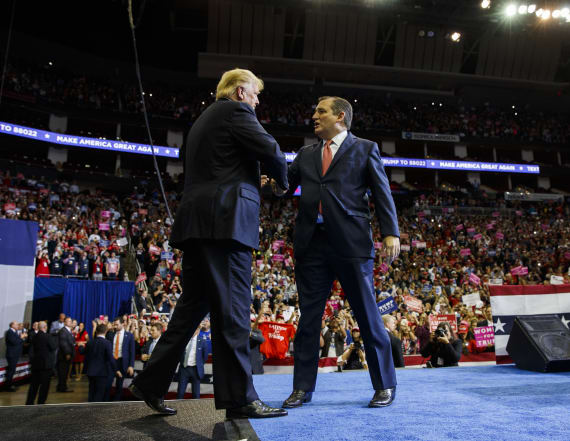 Trump offers full embrace of Ted Cruz at Texas rally