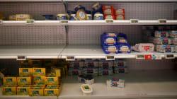 La pénurie de beurre