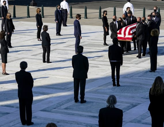 Mourners pay respect to Ginsburg at Supreme Court