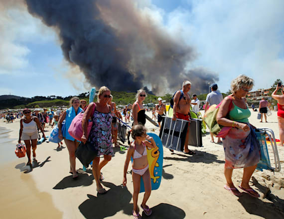 Wildfires prompt 10,000 evacuations in France