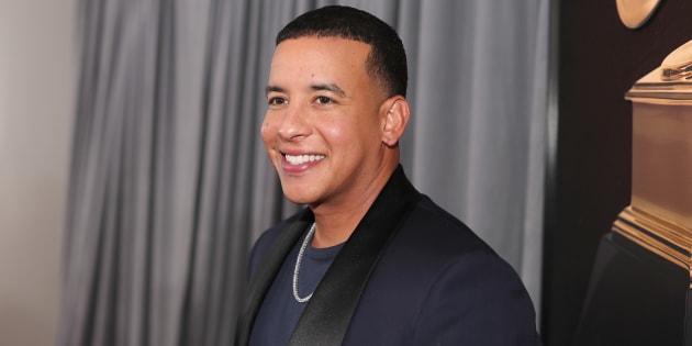 """New York, le 28 janvier 2018, l'artiste Daddy Yankee attend la 60e cérémonie des Grammy Awards à Madison Square Garden. Sa nouvelle chanson """"Dura"""" est sortie le 18 janvier."""
