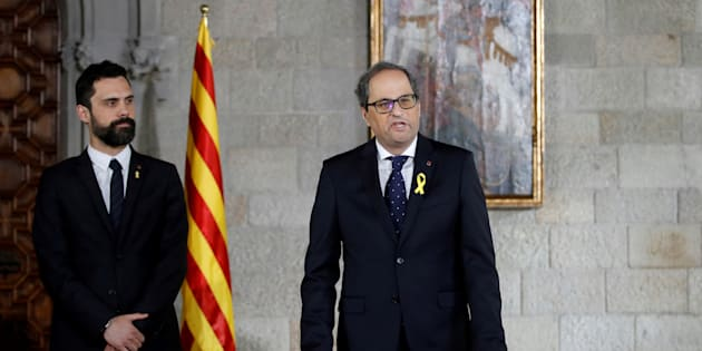 Quim Torra toma posesión como president de la Generalitat.