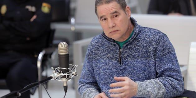 Antonio Troitiño, el histórico miembro de ETA, declarando en la Audiencia Nacional de Madrid.
