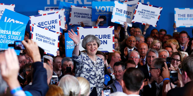 Britain's Prime Minister Theresa May speaks at an election campaign event in Solihull, June 7, 2017. REUTERS/Eddie Keogh