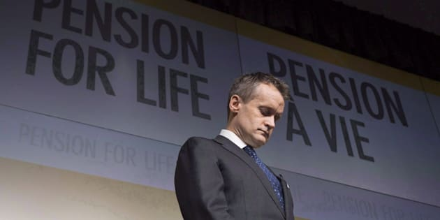 Veterans Affairs Minister Seamus O'Regan is shown at a news conference at National Defence headquarters in Ottawa on Dec. 20, 2017.
