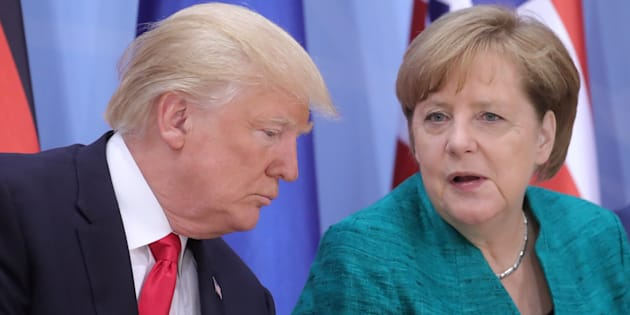 Donald Trump et Angela Merkel lors d'un sommet du G20.