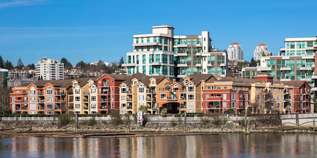 Apartment housing in the Greater Vancouver city of New Westminster. Vancouver's closely-watched housing market clocked another weak month in March.
