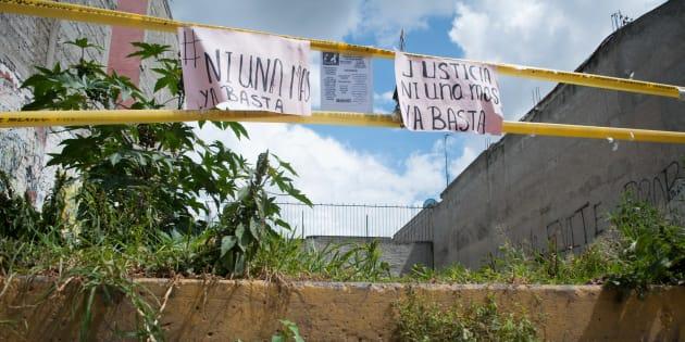 """Este es el lote baldío donde fueron encontrados restos de víctimas que presuntamente fueron tirados por Juan Carlos """"N"""" y Patricia """"N"""", la pareja de asesinos seriales."""