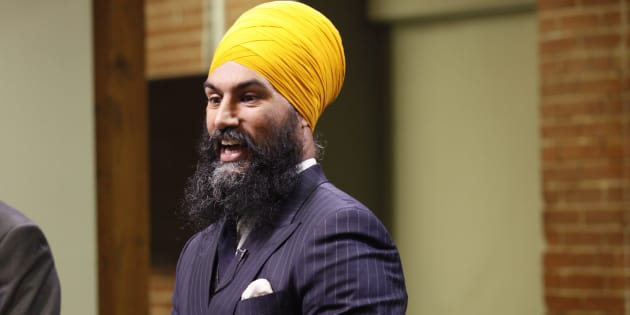 NDP leadership candidate Jagmeet Singh speaks during a debate hosted by HuffPost Canada in Toronto on Sept. 27, 2017.