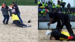 Des gilets jaunes décapitent un mannequin de Macron à Angoulême, la justice