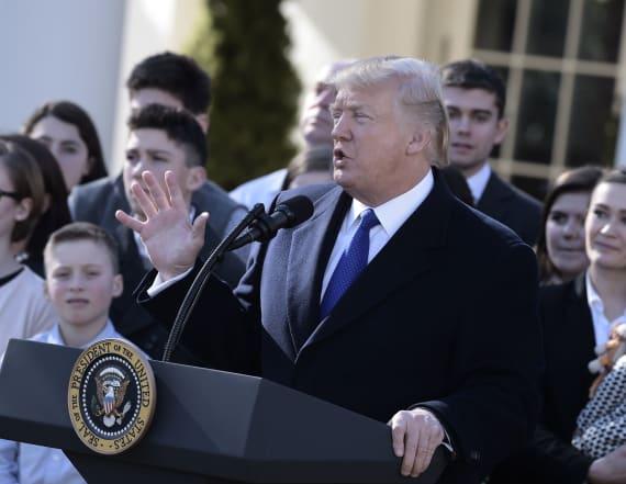 Trump makes flub during speech on abortion