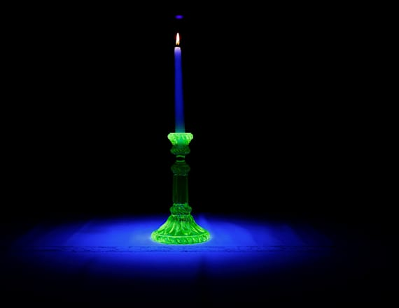 Collect vintage uranium glass for that peaceful glow