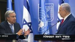 Israel pide a Guterres que frene a Irán en Siria y un mejor trato en la