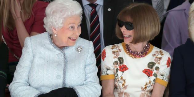 Anna Wintour con Elisabetta, anche nello stile c